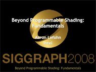 Beyond Programmable Shading: Fundamentals