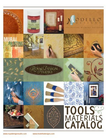 Download our NEW Tools & Materials Catalog - Modello Designs