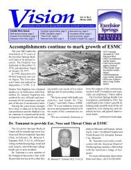 Accomplishments continue to mark growth of ... - Excelsior Springs