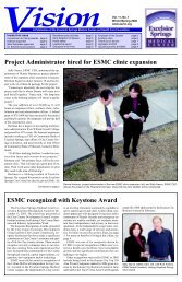 ESMC recognized with Keystone Award Project ... - Excelsior Springs