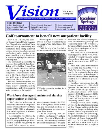 Golf tournament to benefit new outpatient facility - Excelsior Springs