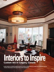 Interiors to Inspire Custom Art in Calgary, Canada - Modello Designs