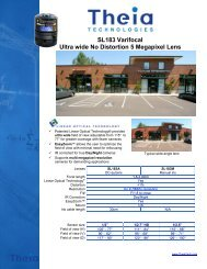 Theia Varifocal Ultra Wide Lens 1.8 – 3.0 mm
