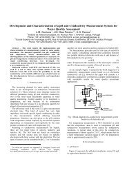 Development and Characterization of a pH and Conductivity ... - GIM
