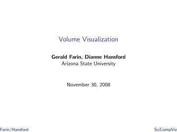 Volume Visualization - Dianne Hansford