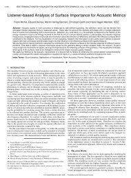 Listener-based Analysis of Surface Importance for Acoustic ... - IDAV
