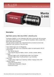 Manta G-046 Datasheet - Covistech.com