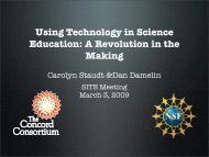 Using Technology in Science Education: A Revolution in ... - RI-ITEST