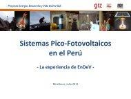 Sistemas Pico-Fotovoltaicos en el Perú - Fonam