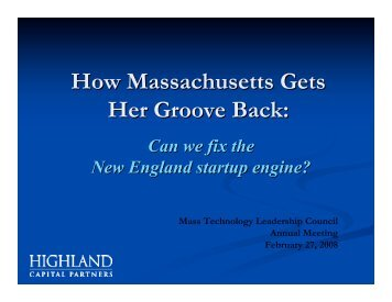 How Massachusetts Gets Her Groove Back - Xconomy