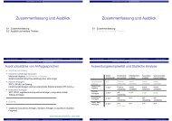 Zusammenfassung und Ausblick - Goethe-Universität