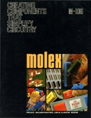 Molex Connector and Switch Catalog, April 1973 (PDF 4.7MB)