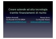 Creare aziende ad alta tecnologia tramite finanziamenti di rischio