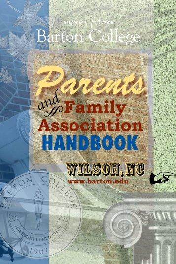 Parents Handbook - Barton College