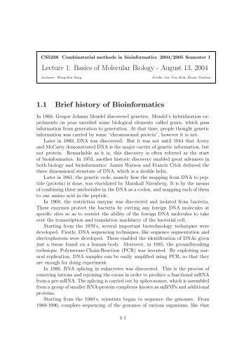 basics of molecular biology pdf