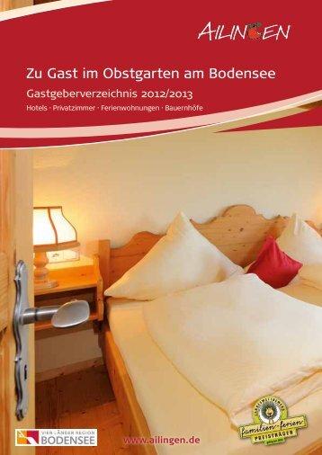 Gastgeberverzeichnis Ailingen 2012/13 - Friedrichshafen