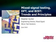 Mixed-signal testing, DFT, and BIST