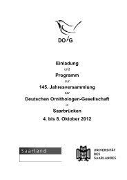 Einladung Programm 145. Jahresversammlung Deutschen - DO-G