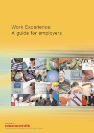 Work Experience: A guide for employers - Department for Education