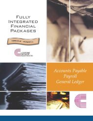 Fully Integrated Financial Packages - c-Systems Software, Inc.