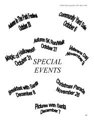 SPECIAL EVENTS - City of Forest Park