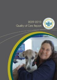 2009-2010 Quality of Care Report - Northeast Health Wangaratta