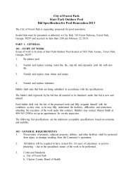 City of Forest Park Starr Park Outdoor Pool Bid Specification for Pool ...