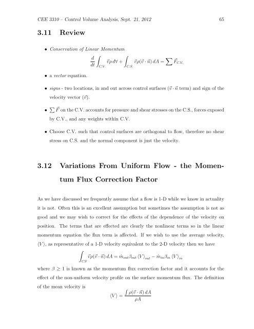tum Flux Correction Factor