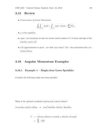 Conservation Of Linear Momentum Examples