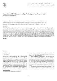 An analysis of 2004 Sumatra earthquake fault plane mechanisms ...