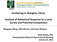Carsharing in Shanghai, China - Innovative Mobility Research