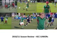 Season Review – KCC Junior Football