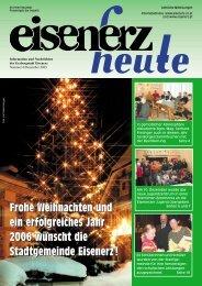 Frohe Weihnachten und ein erfolgreiches Jahr 2006 ... - Eisenerz