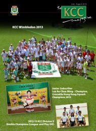 Full publication - The Kowloon Cricket Club