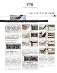 Fiches techniques - Profilés pour escalier - Schluter-Systems