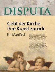 disputa - Vatican magazin ::: Schönheit und Drama der Weltkirche