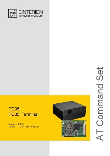 TC35i AT Command Set
