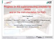 Progress on the superconducting undulator for ANKA and on the ...