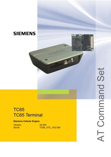 TC65 AT Command Set