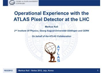 Operational Experience with the ATLAS Pixel Detector ... - Vertex 2012