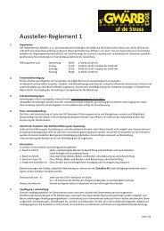 Aussteller-Reglement 1 - Gewerbeverein Affoltern am Albis