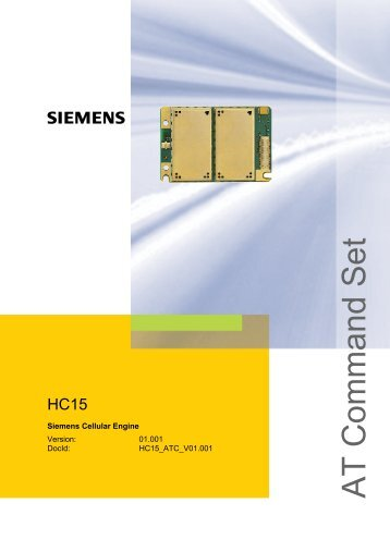 HC15 AT Command Set