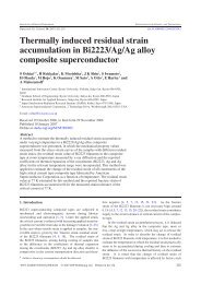 Thermally induced residual strain accumulation in Bi2223/Ag/Ag ...