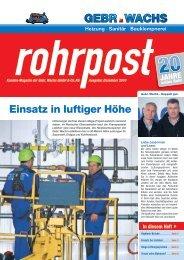 Ausgabe Dezember 2010 (PDF) - Gebr. Wachs GmbH & Co. KG