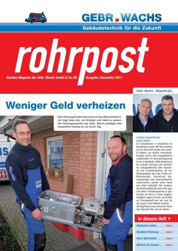 Ausgabe Dezember 2011 (PDF) - Gebr. Wachs GmbH & Co. KG