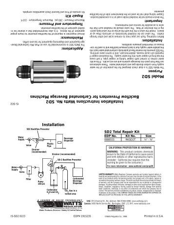 water tank installation instructions