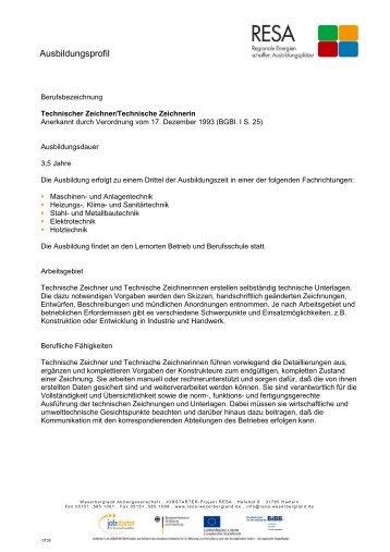 Technischer Zeichner/Technische Zeichnerin - RESA