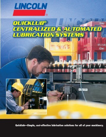 quicklub® centralized & automated lubrication ... - Dean Industrial