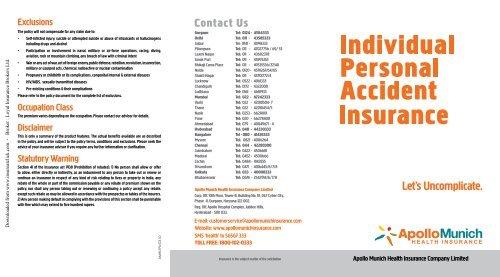 Apollo Munich Individual Personal Accident Insurance 2