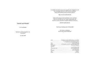 Handel und Wandel - Hackländer, Friedrich Wilhelm Ritter von